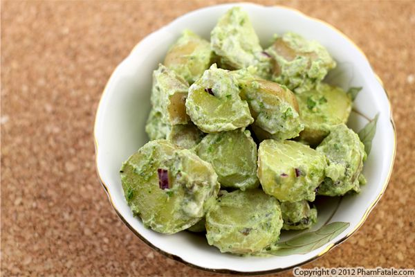 Pommes Anglaise: Pesto Potato Salad Recipe Recipe