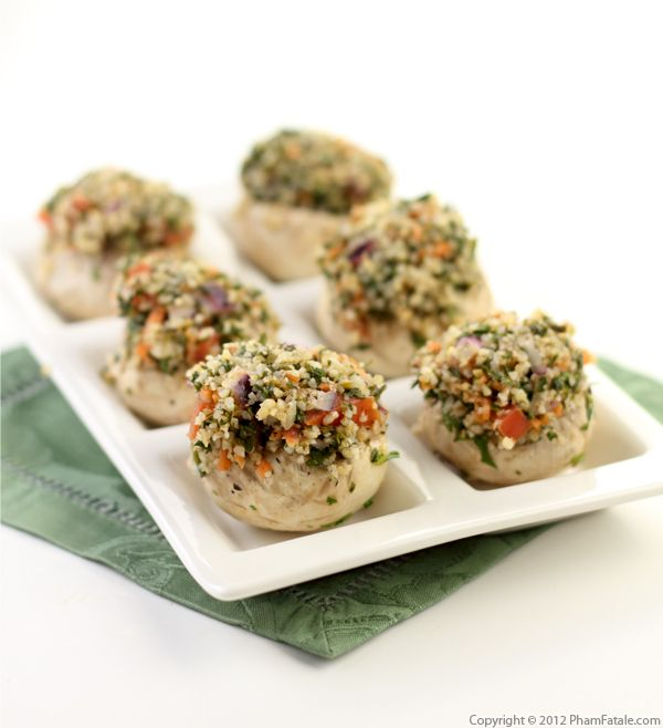 Tabouleh Stuffed Mushrooms (Mushroom Appetizer Recipe) Recipe