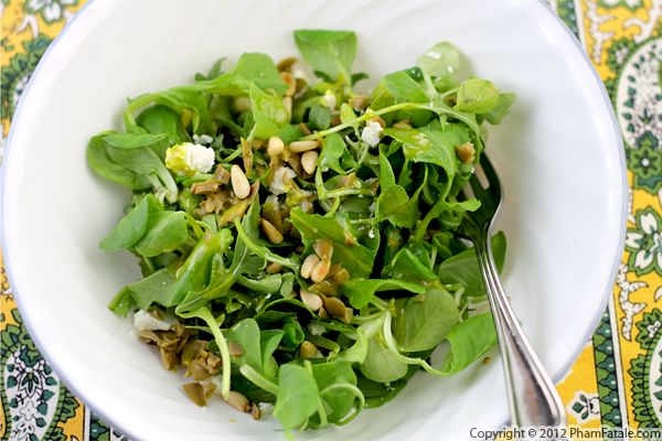 Arugula Salad with Pesto Vinaigrette Recipe