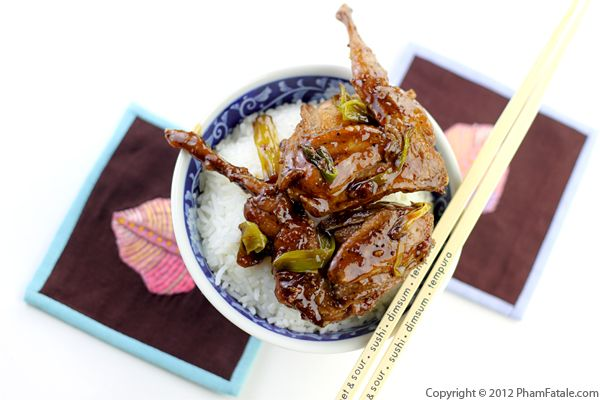 Chim Cut Roti Recipe: Vietnamese Quail with Soy Ginger Glaze Recipe