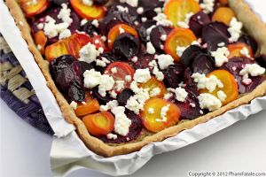 Beet Tart with Beet Green Pesto