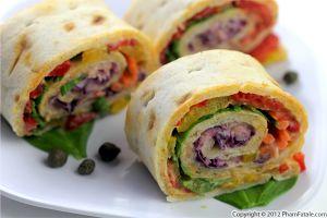 Mediterranean Pinwheel Sandwich Recipe