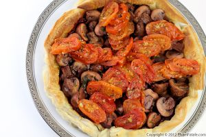 Crimini Mushroom Tart with Roasted Cherry Tomatoes