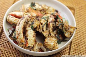 Sauteed Crab with Ginger and Basil
