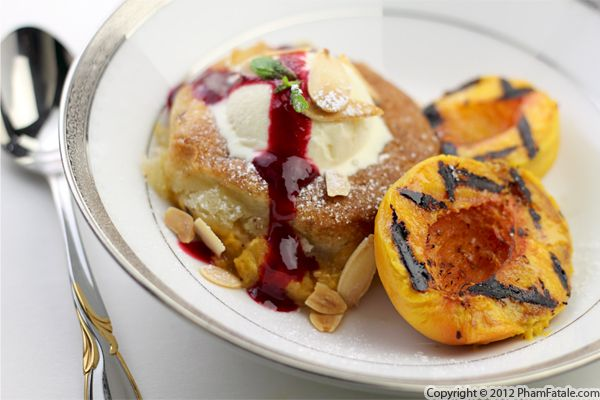 Peach Melba with Almond Croquant Recipe