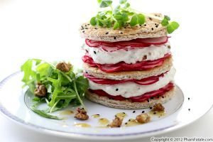 Radish and Goat Cheese Napoleon Recipe