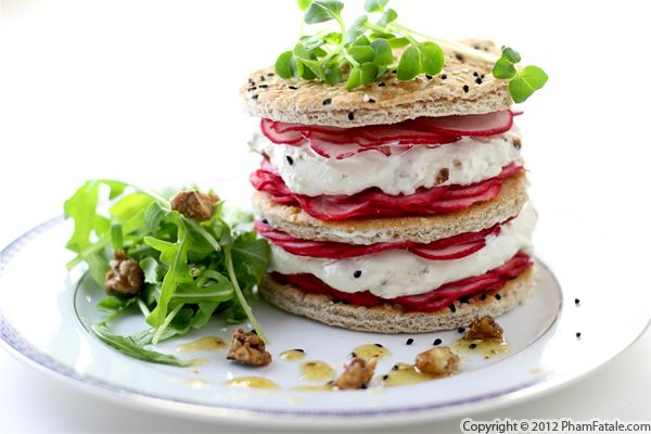 Radish and Goat Cheese Napoleon Recipe Recipe