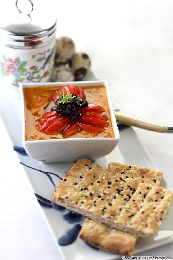 Gazpacho Soup (Chilled Tomato Soup Recipe) Recipe