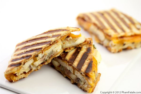 Roasted Chicken and Apple Panini Sandwich Recipe Recipe