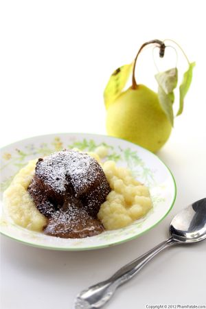 Pear and Chocolate Lava Cake Recipe