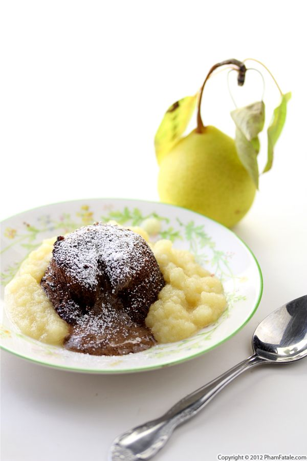 Pear and Chocolate Lava Cake Recipe Recipe
