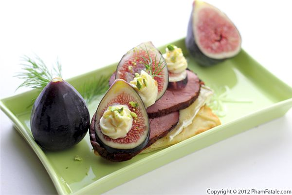 Smoked Duck and Fig Tartine Recipe Recipe