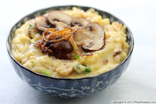 Mushroom and Gorgonzola Polenta Recipe Recipe