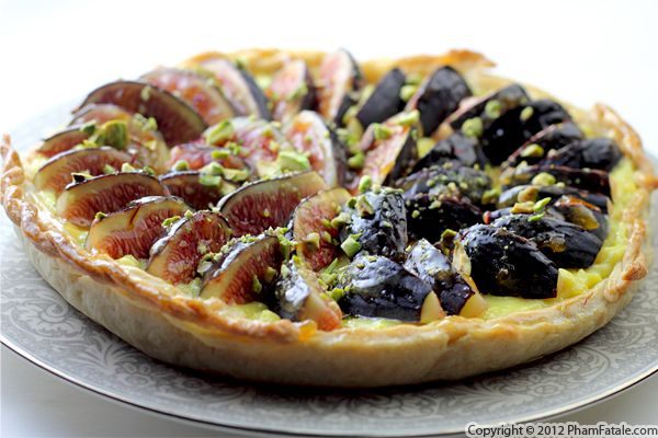 Fig Pistachio Tart Recipe with Picture