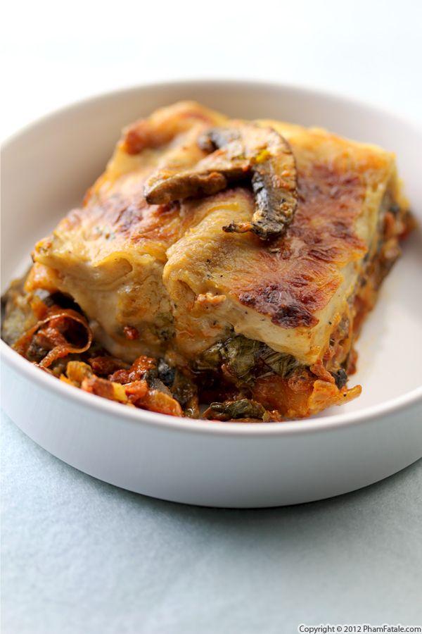 Mushroom Lasagna Recipe - Pham Fatale