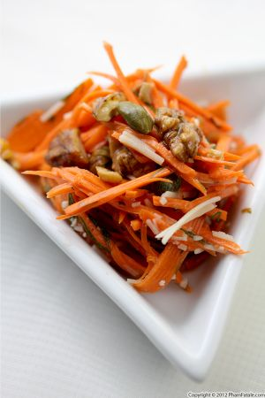 Shredded Carrot and Walnut Salad Recipe