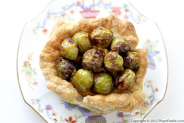 Roasted Brussels Sprout Savory Tart with Picture