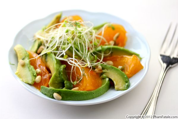 Avocado and Persimmon Salad Recipe Recipe