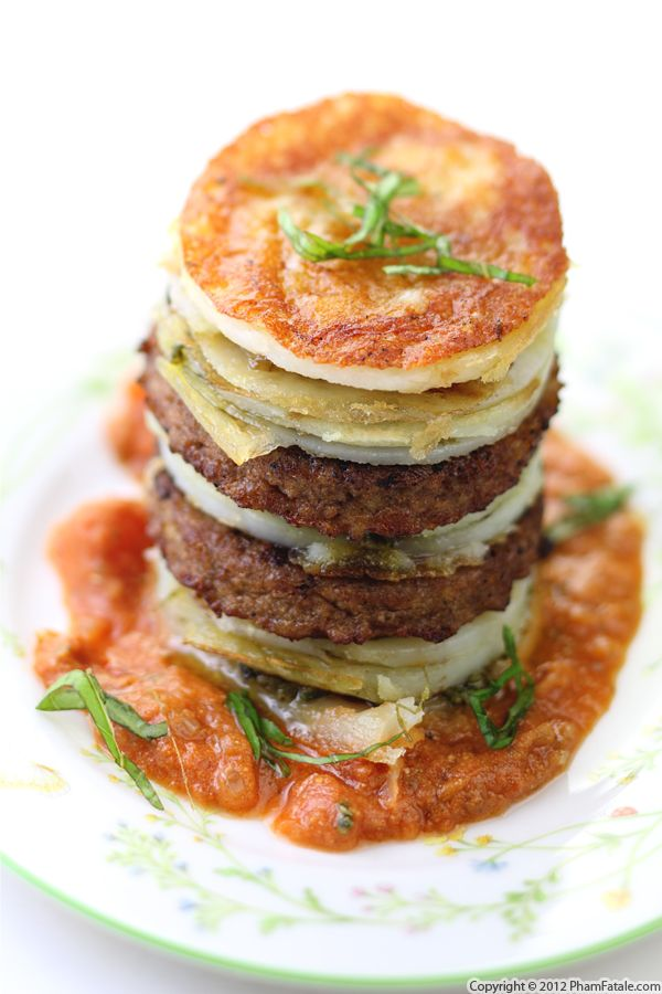Meat and Potato Napoleon Recipe Recipe