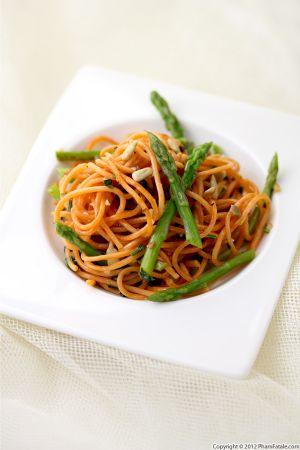 Quinoa Spaghetti with Asparagus (Gluten Free Pasta)