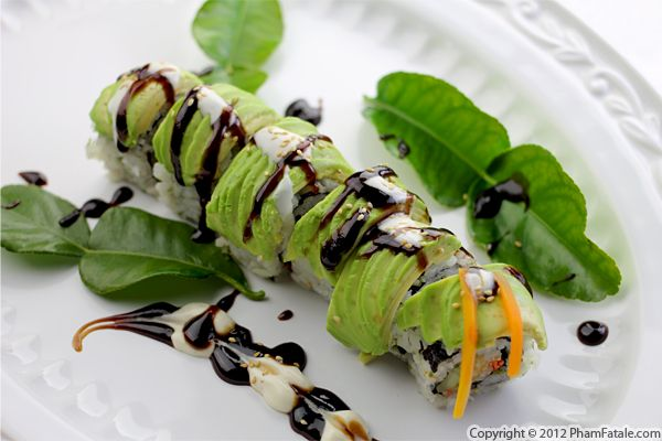 Caterpillar Roll (Avocado Sushi Recipe) Recipe