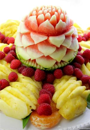 Watermelon Carving and Fruit Display
