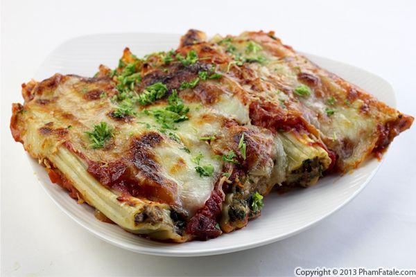Mushroom Manicotti Pasta Recipe Recipe