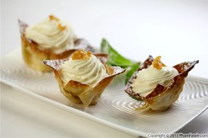 Meyer Lemon Mousse in Wonton Cups