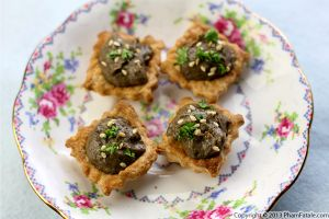 Grilled Eggplant Tartlet Recipe