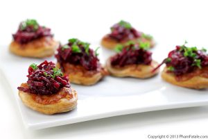 Spicy Beet Pizza Appetizer Recipe