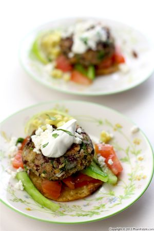 Red Kidney Bean Tostada with Nopales