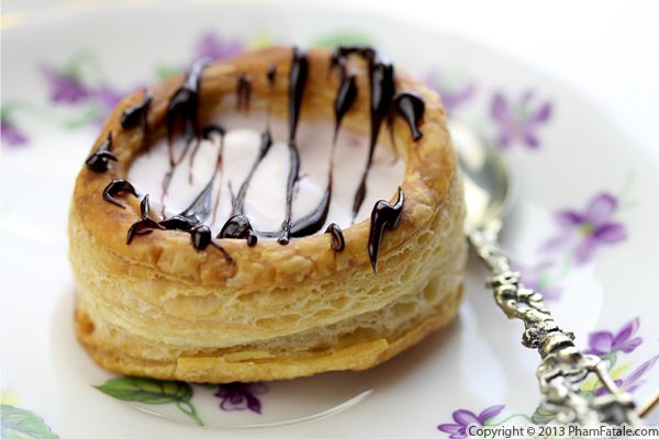 Vol au Vent Filled with Cherry Ice Cream Recipe