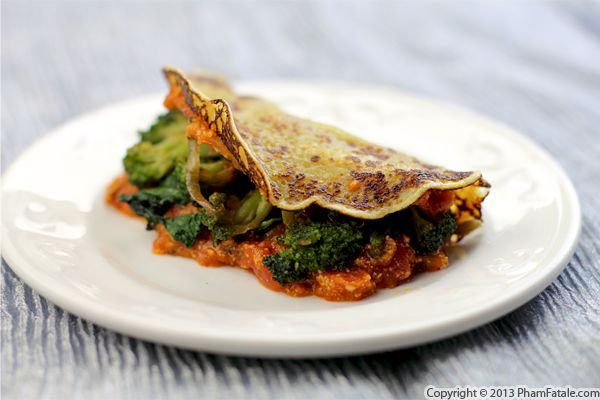 Kale and Broccoli Crepe Recipe Recipe