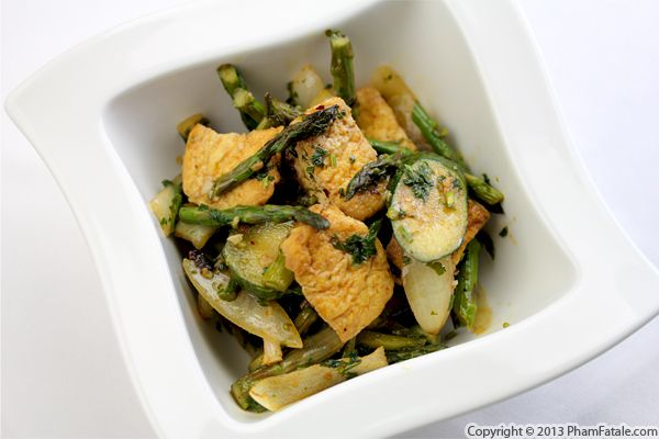 Asparagus and Zucchini Tofu Recipe Recipe