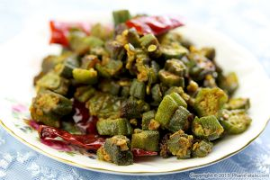 Bhindi Subzi Recipe (Spicy Okra)