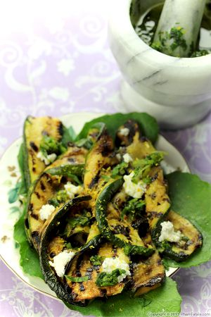 Grilled Zucchini with Chimichurri