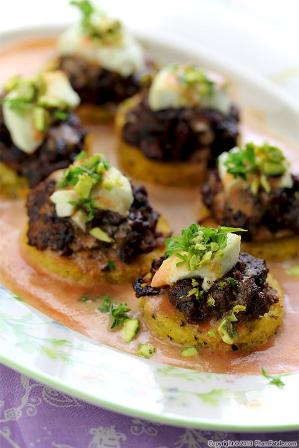 Polenta Medallions with Turkey