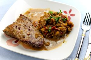 Veal Scallopini with Curried Cauliflower