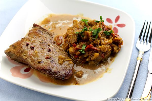 Veal Scallopini with Curried Cauliflower Recipe