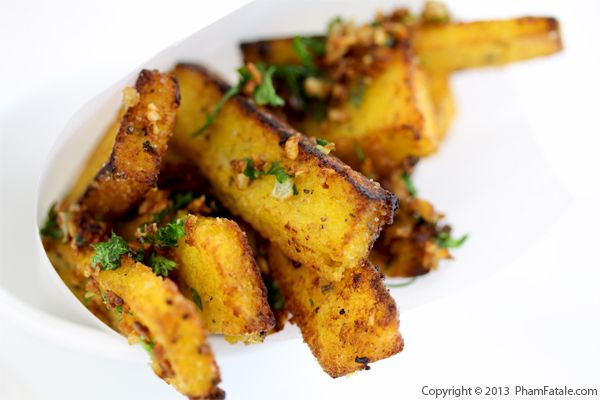 Garlicky Polenta Fries Recipe