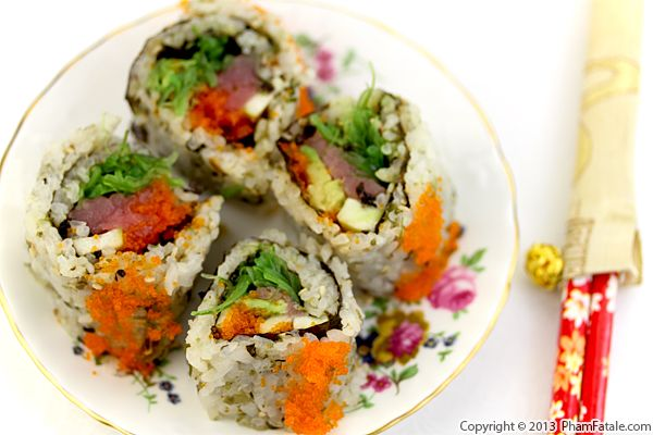 Spicy Tuna Maki Sushi Roll Recipe Recipe