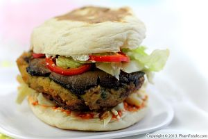 Portobello and Chickpea Burger Recipe