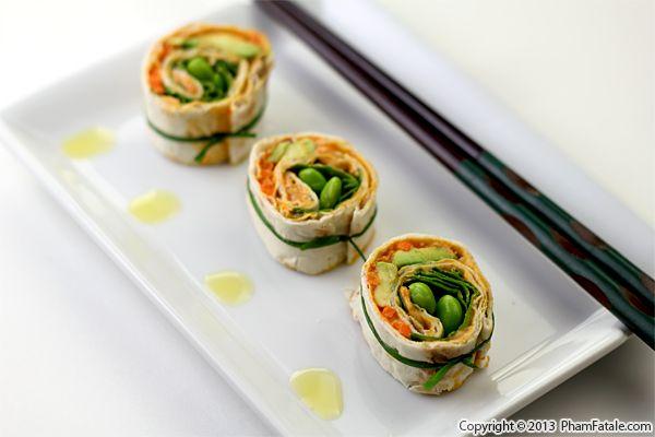 Lavash Bread 'Sushi' Pinwheel Recipe Recipe