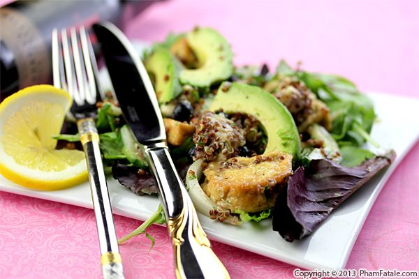 Summer Salad with Spiced Lemon Coffee Vinaigrette Recipe