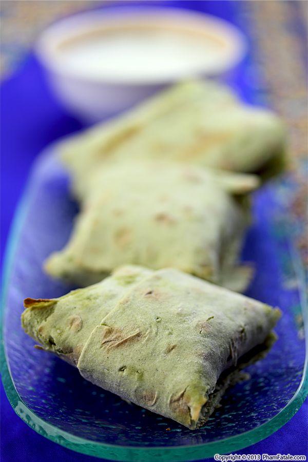 Lavash Spanakopita (Palak Paneer Purses) Recipe