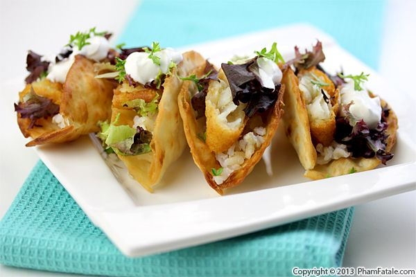 Crispy Fried Lavash Tacos Recipe