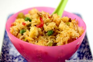 Vegetarian Fried Rice Recipe (Com Chien Chay in Vietnamese)