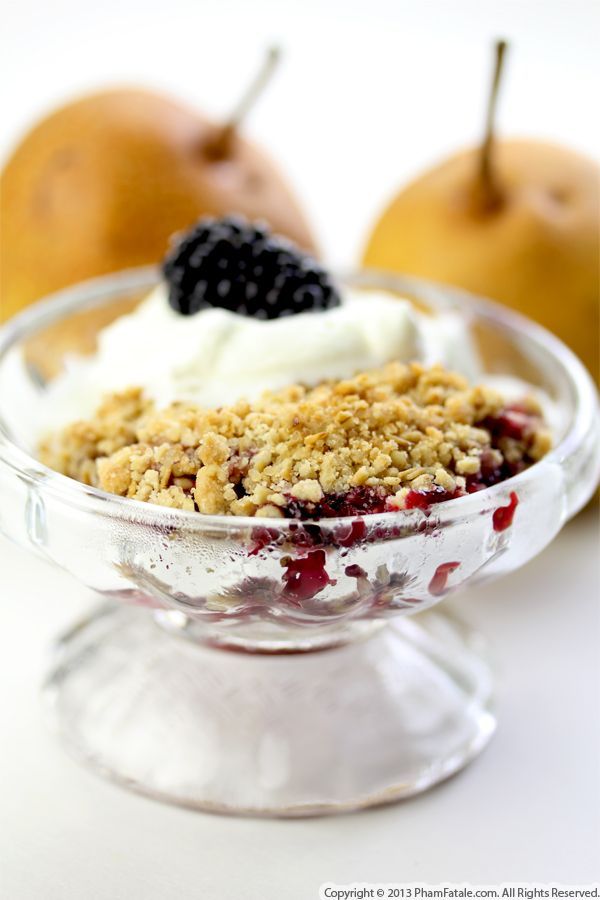 Chocolate Pear Blackberry Crumble Recipe Recipe