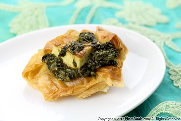Indian-style Spinach Phyllo Cups Recipe