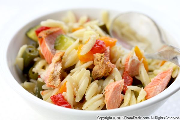 Salmon Orzo Salad Recipe Recipe